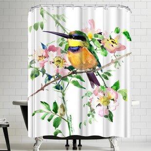 Suren Nersisyan Bee Eater And Rosehop Single Shower Curtain