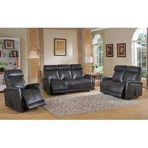 Mosby 3 Piece Leather Living Room Set by Amax
