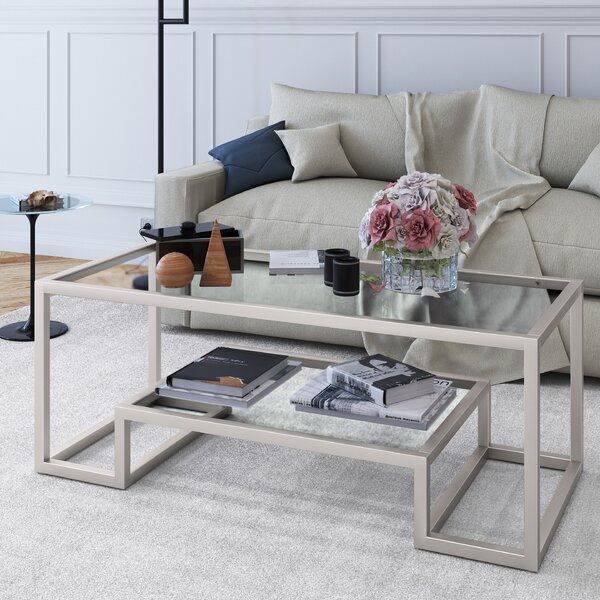 Imel Frame Coffee Table with Storage