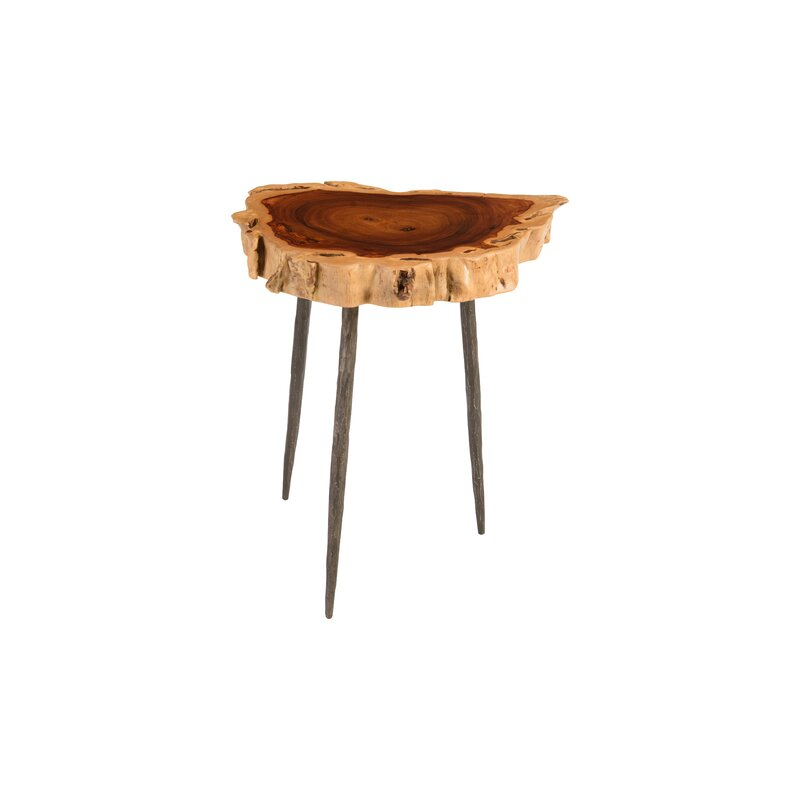 Claudine Makha Burled Wood End Table