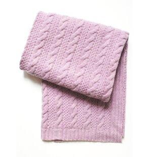 Best Price Cable Knit Wool Blend Baby Blanket By Esteffi