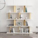 Ackeem 53.9 H x 51.6 W Geometric Bookcase by Ebern Designs