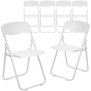 Price comparison Laduke Plastic Folding Chair (Set of 6) by Symple Stuff Reviews (2019) & Buyer's Guide