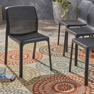 Neve Outdoor Stacking Patio Dining Chair (Set of 4)