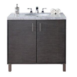 Cordie 36 Single Silver Oak Marble Top Bathroom Vanity Set by Orren Ellis