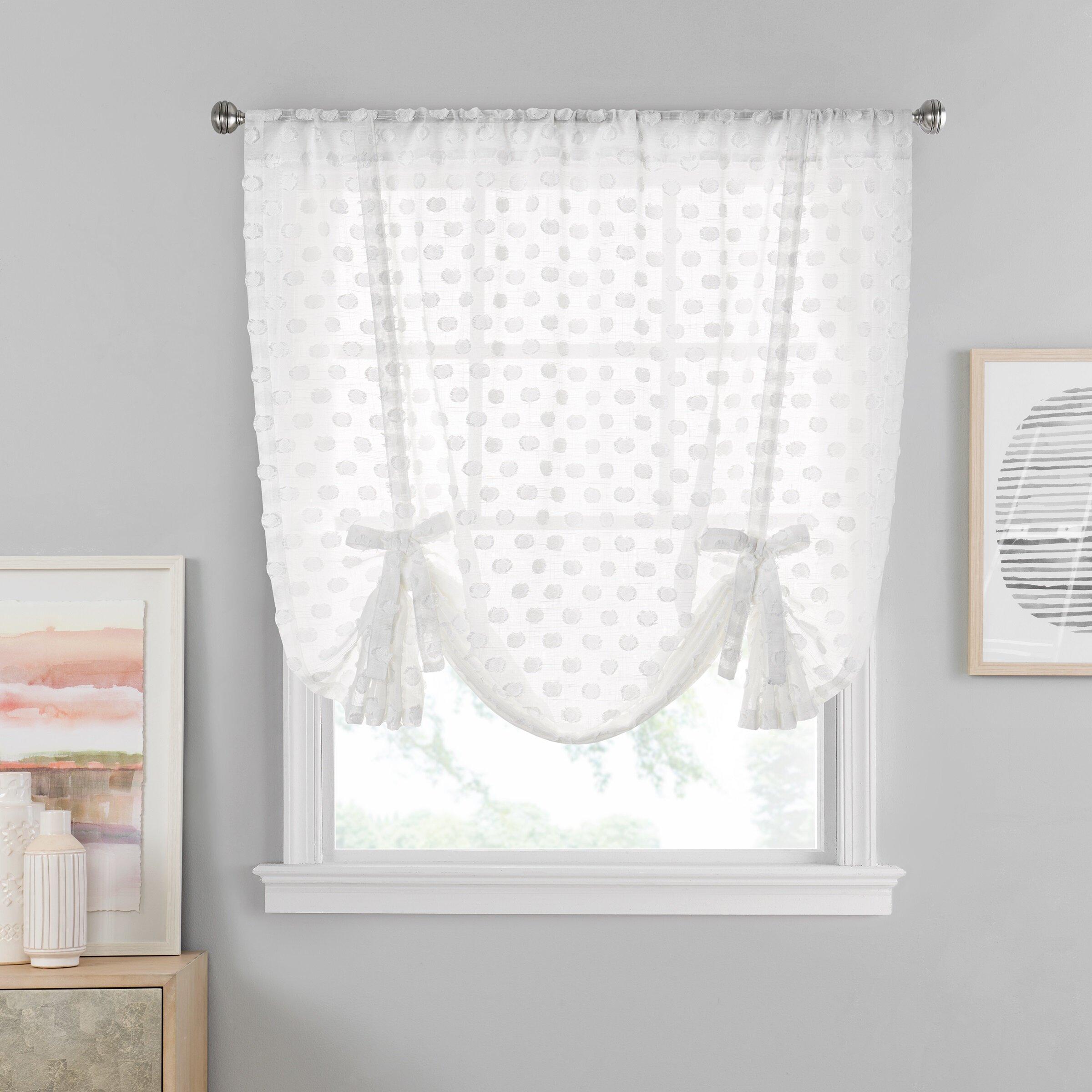 Gracie Oaks Vue Window Solutions Modo Sheer Tie Up Shade Reviews Wayfair