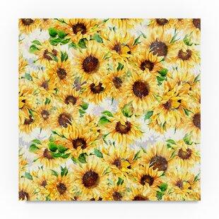 u0027Sunflowers Patternu0027 Graphic Art Print on Wrapped Canvas  sc 1 st  Wayfair & Sunflower Pattern Dinnerware   Wayfair