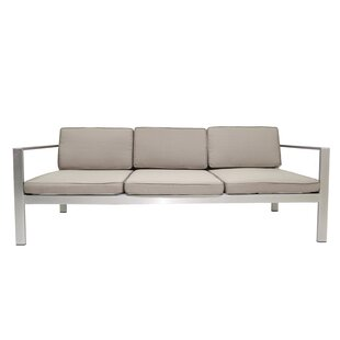 Hillwood Patio Sofa with Cushions by Rosecliff Heights