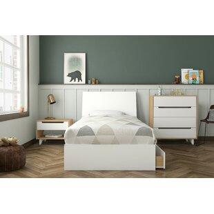 Alaysia Twin Platform 4 Piece Bedroom Set by Harriet Bee