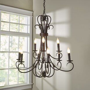 gaines 9 light candle style chandelier - Candle Chandelier