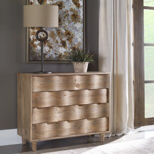 Maximiliano 4 Drawer Accent Chest by Bungalow Rose