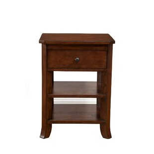 Alcott Hill Lapine Chicly Trimmed 1 Drawer Nightstand