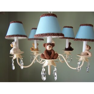 Silly Bear Lighting Teddy Time 5-Light Shaded Chandelier