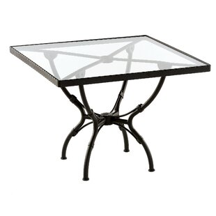 Aikens Square Aluminum Dining Table by One Allium Way Best Choices