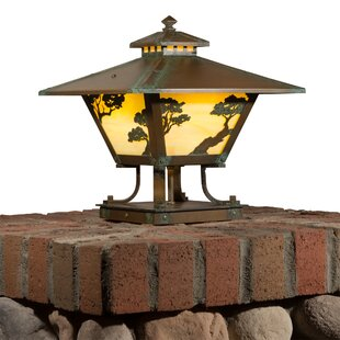Angelos Pine Shallow Column 1-Light Pier Mount Light by Loon Peak