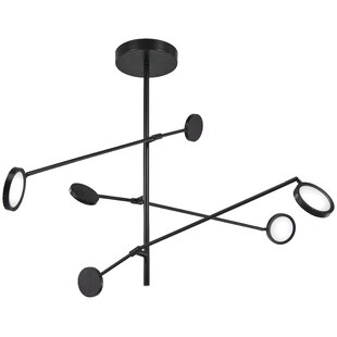 Ivy Bronx Fiarmont 1-Light LED Sputnik Chandelier