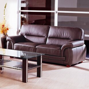 Leather Sofa by Hokku Designs Savings