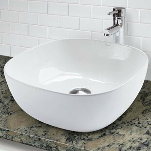Shop For Classically Redefined Vitreous China Square Vessel Bathroom Sink By DECOLAV