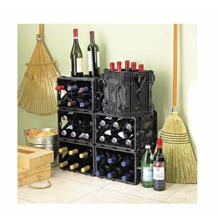 Storvino Nero 6 Bottle Floor Wine Wine Rack (Set of 2)