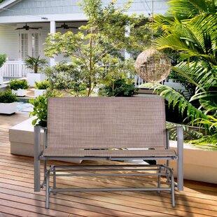 Courtois Outdoor Glider Bench by Fleur De Lis Living