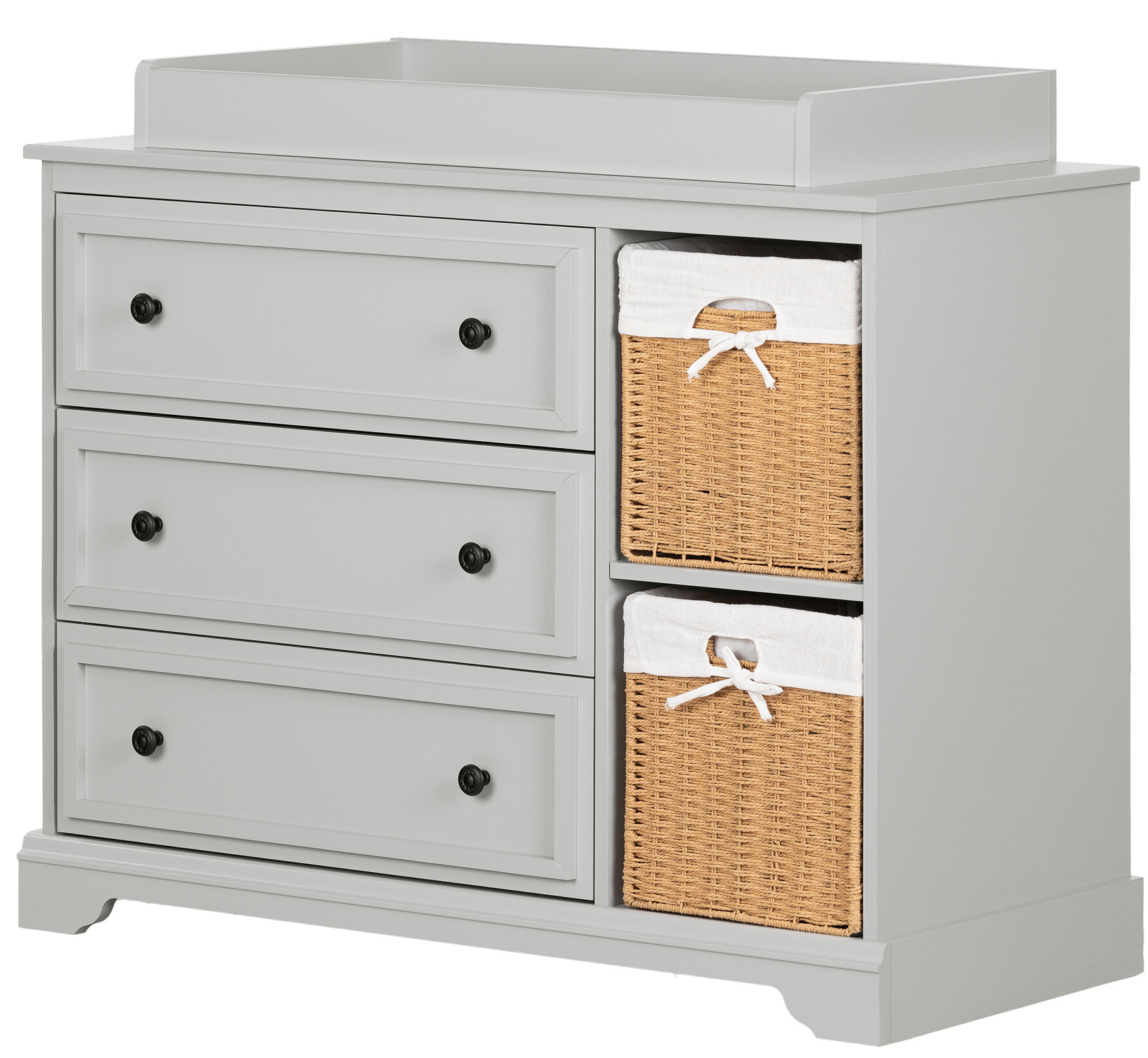 Image of: South Shore Kanal Changing Table Dresser With 2 Baskets Reviews Wayfair