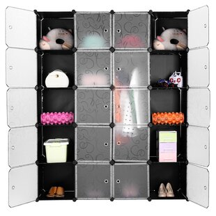 Price comparison Beringer 57.9 W Cube Organizer Plastic Drawers Wardrobe By Rebrilliant