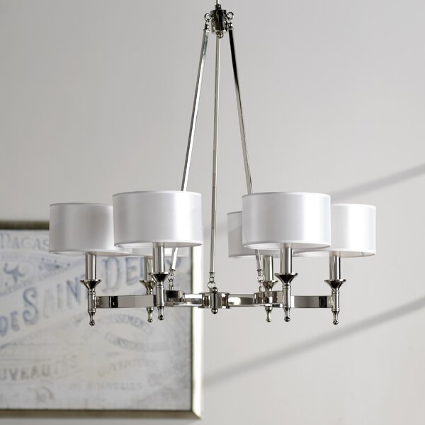 darby home co watson 6 light shaded chandelier reviews wayfair