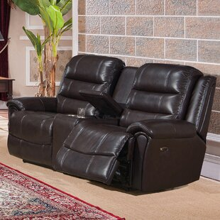 Amax Astoria Leather Reclining Loveseat
