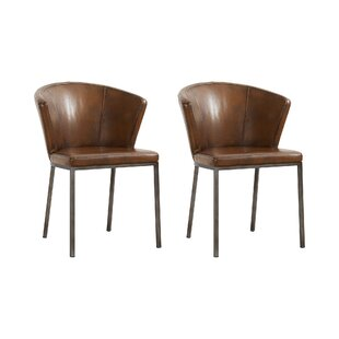 Jake Curve Upholstered Dining Chair (Set Of 2) By George Oliver