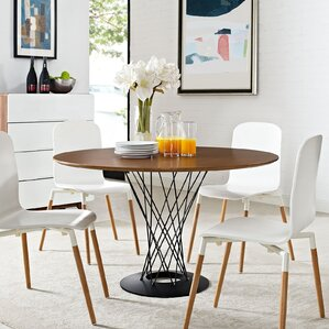 Cyclone Wood Top Dining Table by Modway