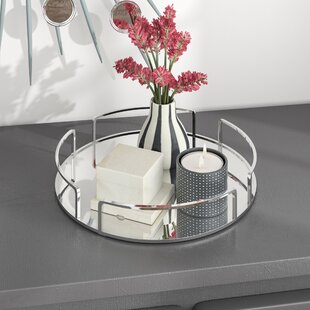 Incroyable Erela Modern Round Design Mirror Vanity Tray
