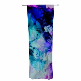 30 x 84 Sheer Curtains Kess InHouse Josh Serafin Lets Move Blue Purple Decorative Set