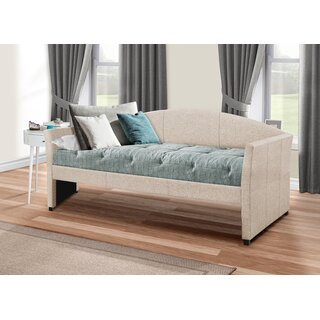 Alvina Upholstered Twin Daybed by Andover Mills SKU:BD210275 Details