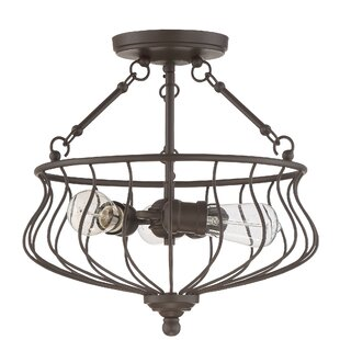 Frida 3-Light Semi Flush Mount..