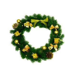 30cm Lighted Christmas Wreath Image