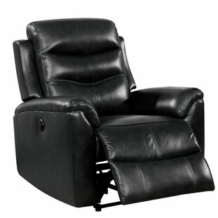 Askew Leather Power Recliner by Latitude Run