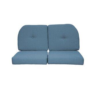 Red Barrel Studio Wicker Indoor/Outdoor Sunbrella Loveseat Cushion