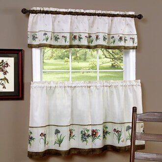 This Contemporary Style Of Curtains Lets In The Most Amount Light Cafe Can Be Paired With A Matching Valance Like Floral Pattern Left