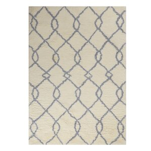 North Moore Hand-Tufted Ivory/Gray Area Rug
