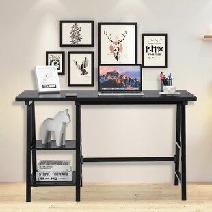 Storksbill Trestle Open Tiers Shelves Desk