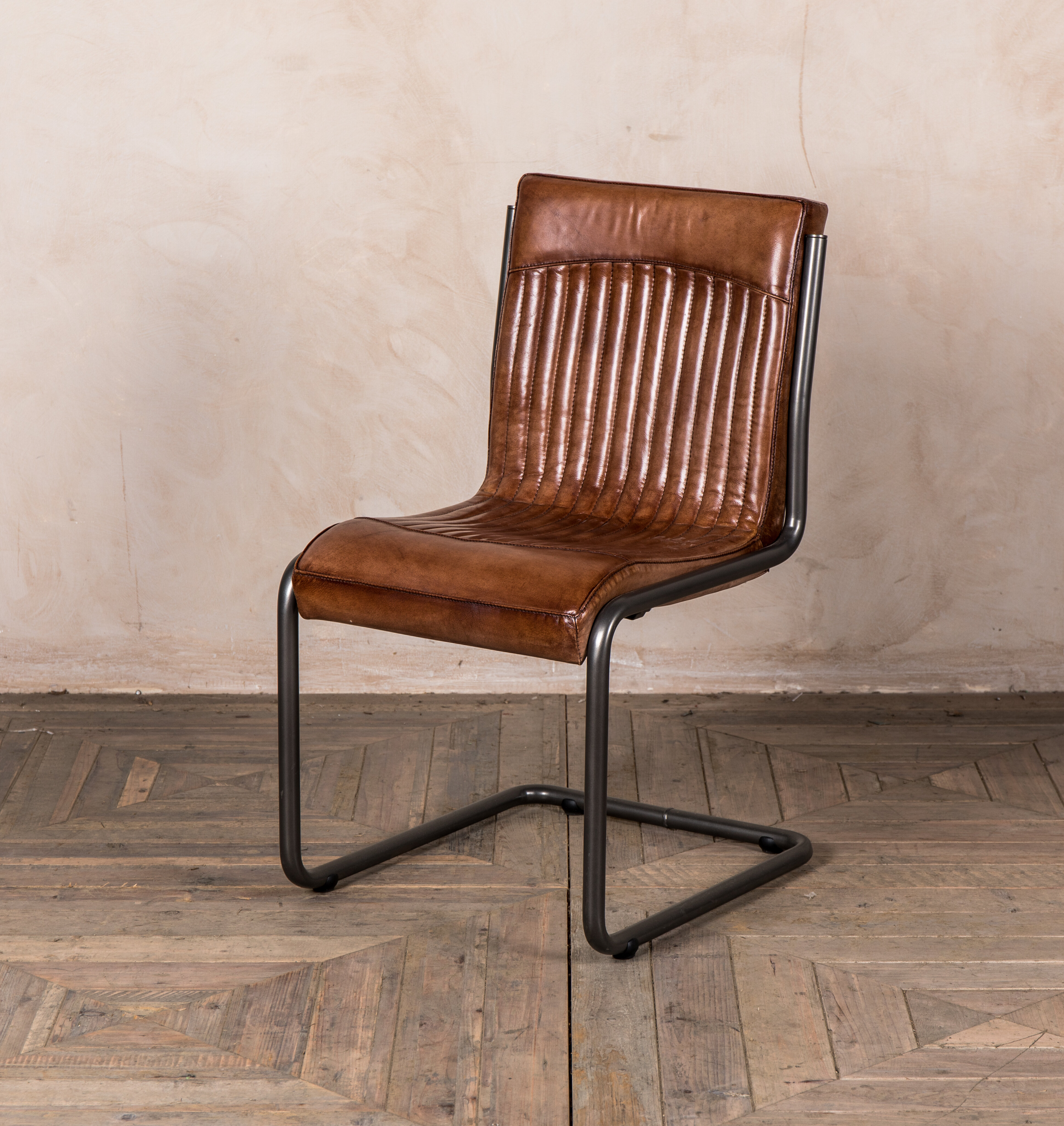 Williston Forge Ebeling Genuine Leather Upholstered Dining Chair Wayfair Co Uk