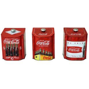 Coca-Cola Tin qt. Kitchen Canister (Set of 3)