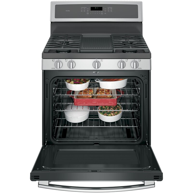Ge Profile 30 Quot 5 6 Cu Ft Freestanding Gas Range With
