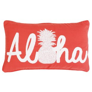 Quinn Aloha Pineapple Script Throw Pillow