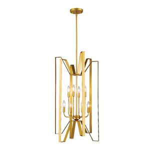 Fawcett 8-Light Geometric Chandelier by Z-Lite