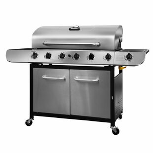 Classic 6 Burner Stainless Propane Gas Grill with Side Burner by Royal Gourmet Corp