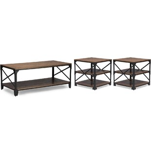 Hutcheson 3 Piece Coffee Table Set