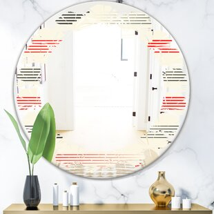 Leaves Horizontal Geometrical I Eclectic Frameless Wall Mirror by East Urban Home