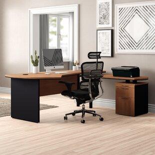 Executive Management 5 Piece L-Shaped Desk Office Suite by OfisELITE Savings