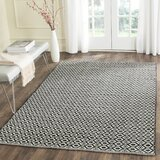 Whyte Handwoven Flatweave Cotton Ivory/Black Area Rug